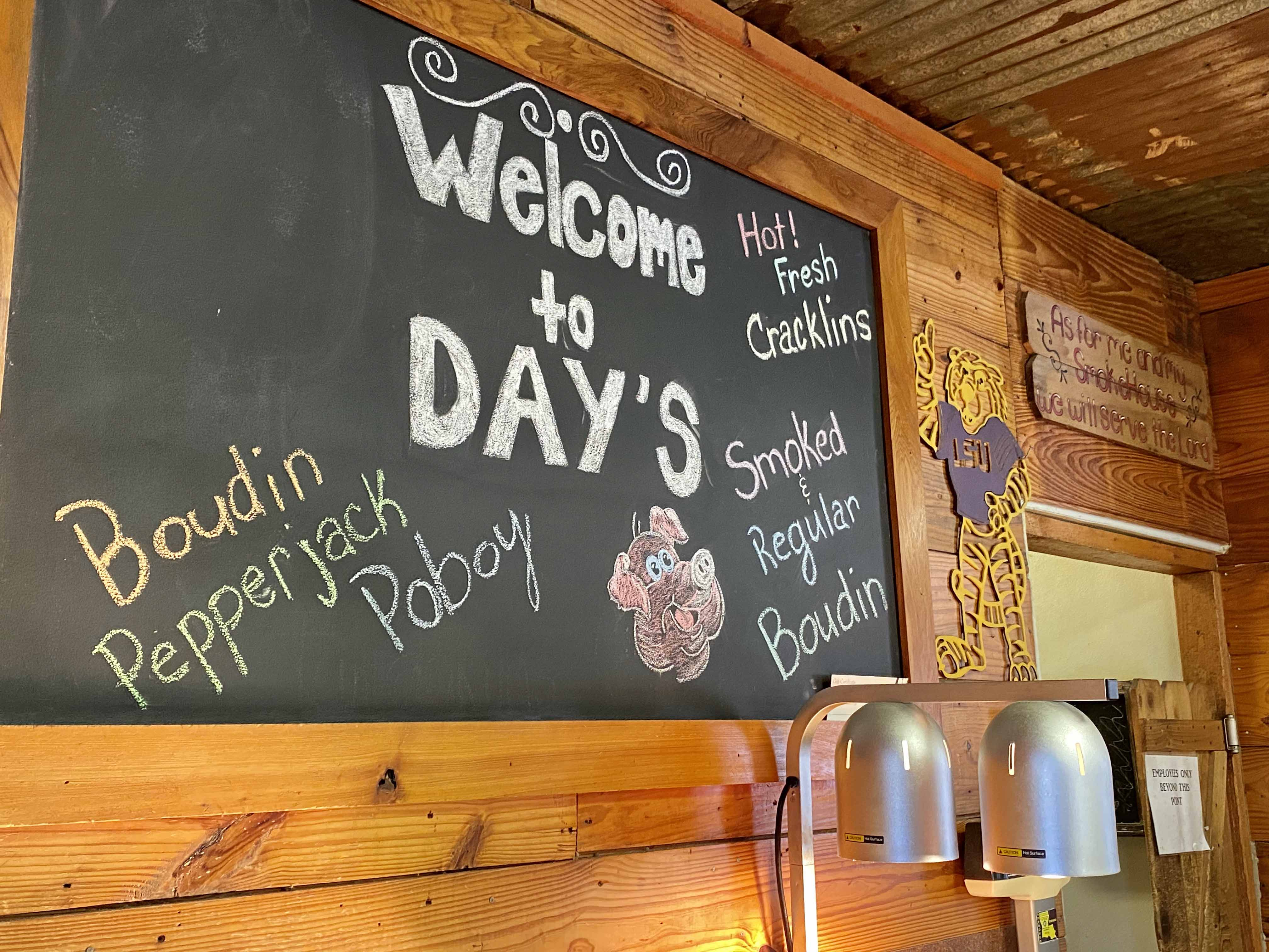 Day's Smokehouse Welcome Board